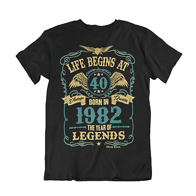 Life Begins At 40 Mens T-Shirt BORN In 1979 Year of Legends 40th Birthday Gift