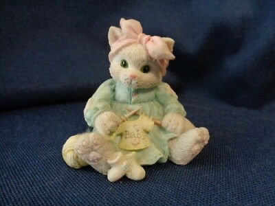 """Calico Kittens """"hand Knitted With Love"""" 1993"""
