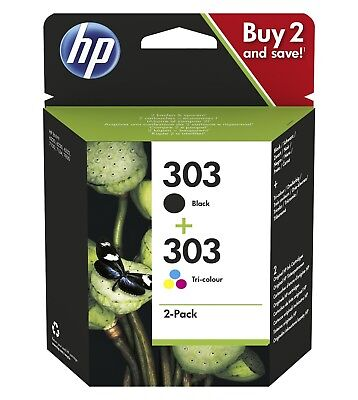 Genuine HP 303 Combo Pack Colour & Black Ink Cartridge For HP ENVY