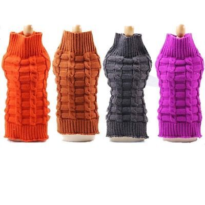 Pet Dog Cat Knitted Sweater Costume Winter Puppy Warm Jumper Coat Jacket Clothes