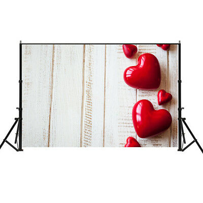Creative Love Heart Valentine Gift Wedding Photography Backdrop Background 5x7ft