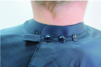 Agenda Black Neoprene Collar Cape Barbers/Salon Cutting /Gown *Keep Hair Out*