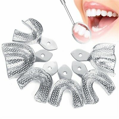 New Stainless Steel Dental Impression Tray Oral Hygiene Tooth Tray Health Clean
