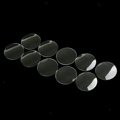 10Pcs Clear Round Domed Mineral Crystal Watch Glass Face Lens Replacement