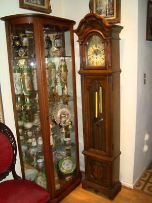 Vintage Germany HERMLE Grandfather Clock with Westminster Chime-Works GREAT!