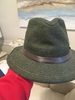 96d6bdb91306b Filson S Forest Green Wool Packer Hat Custom Made in USA