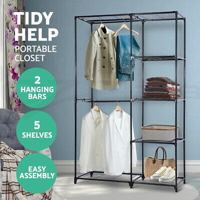 Artiss Clothes Rack Garment Rolling Display Rail Collapsible Commercial Hanger