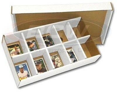 10 BCW Cardboard Card Sorting Box Trays 10 Slot Sort Box Baseball Trading