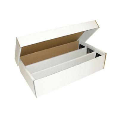 5 BCW Super Shoe Card Storage Boxes Sports Cards New 3 Row Cardboard Box