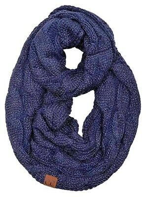 Funky Junque s C.C Beanies Matching Ribbed Winter Warm Cable Knit Infinity  Scarf 344e289ec224