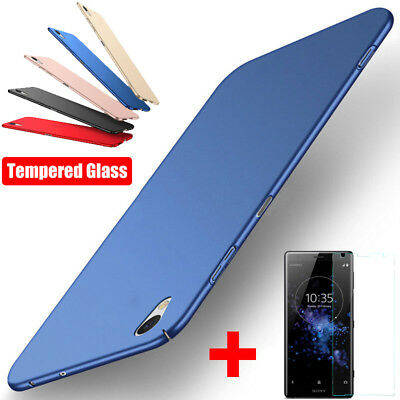 Protective Shockproof Hard Case Cover+Tempered Glass For Sony Xperia XZ3 XZ2 XA1
