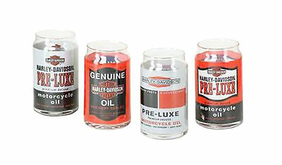 Harley-Davidson® Bar & Shield Oil Can Graphics 16 oz Glass Set of 4 HDX-98714
