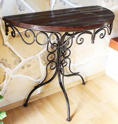 Table Wall Side Hx12582 Console Semicircular 82cm Bracket Antique
