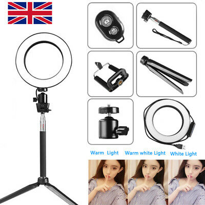 """8"""" LED Ring Light with Stand Dimmable LED Lighting Kit For Makeup Youtube Live G"""