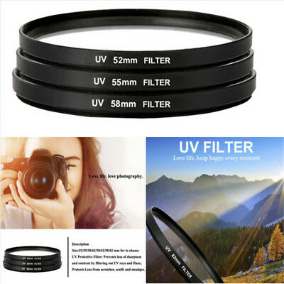 1PC Ultra-Violet Lens UV filter Protector For Nikon Canon camera 52-82mm