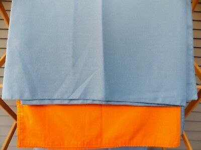 2 Vintage Mid Century Cotton Polyester Tablecloth Blue Orange