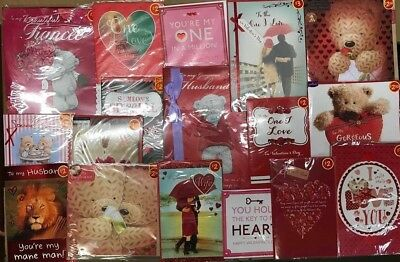 320 Mixed Valentines Day Cards Top Quality Husband Wife Love Wholesale Job Lots