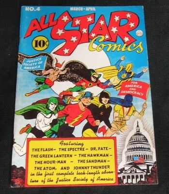 Flashback Comics #6 (1974) Reprints All Star Comics #4 F/VF to VF X569