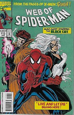 Web of Spider-Man No.113 / 1994 Black Cat & Gambit / Terry Kavanagh Alex Saviuk