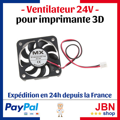 Ventilateur 24V MX Imprimante 3D - 40x40x10mm - DC BRUSHLESS FAN Ventilo DC24V