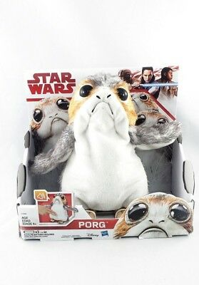 Hasbro Star Wars The Last Jedi Electronic Interactive PORG Plush - NIB