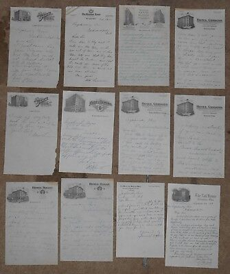 1920s lot of 8 different vintage Hotel stationery - Ohio Indianapolis Chicago