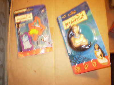 Disney's Pocahontas Nite Lite - New Unused & Free free erasers set  & free ship