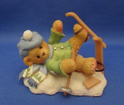 "Cherished Teddies Spencer ""I'm Head Over Skis For You"" Figurine - Enesco 1997"