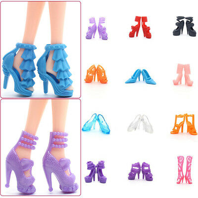 10pairs Fashion Accessories Boots High Heel Shoes Sandals For High Doll