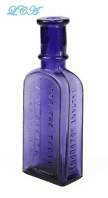 Antique SOZODONT for the TEETH antique bottle PURE PURPLE mold blown BIM 1890's