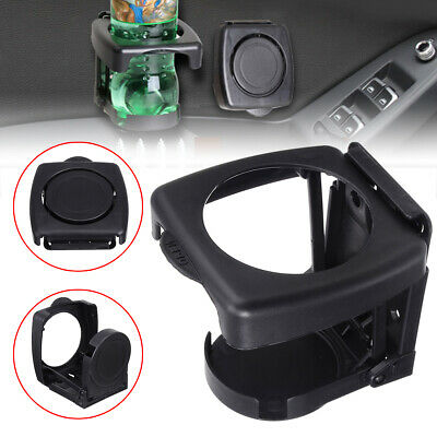 Universal Car Auto Folding Beverage Drink Cup Bottle Holder Stand Mount Black