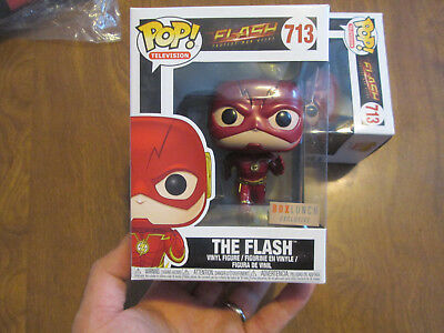 Funko Pop The Flash Fastest Man Alive # 713 Metallic Box Lunch Boxlunch