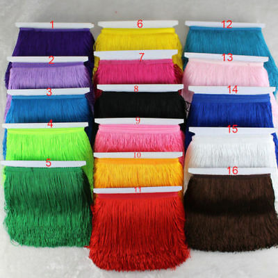 15cm Tassel Fringe dance costume lamp diy curtain tassel lace trim1/5/10yards