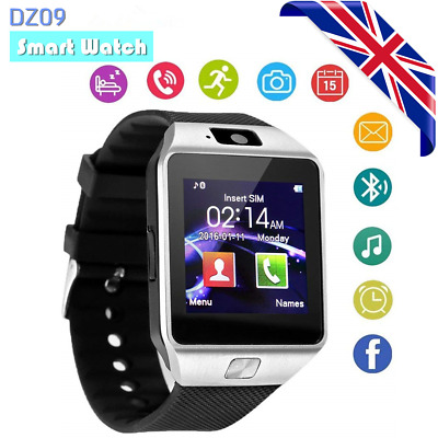 DZ09 Smart Watch Sim Phone Bluetooth Camera Apple and Android Compatible UK