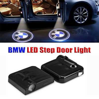 2x Wireless Projector Courtesy Logo LED Door Step Light For BMW
