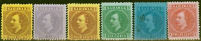 Sarawak 1871-75 set of 6 SG2-7 Fine Unused
