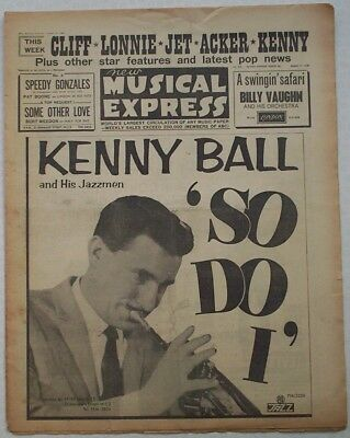 """Vintage """"NEW MUSICAL EXPRESS"""" NME. 17/8/1962. Donegan; Marty Wilde; Jet Harris."""