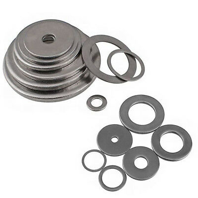 50X A4 316 Stainless Steel Flat Washers For Bolt&Screw M2 M3 M4 M5 M6 M8 M10 M12