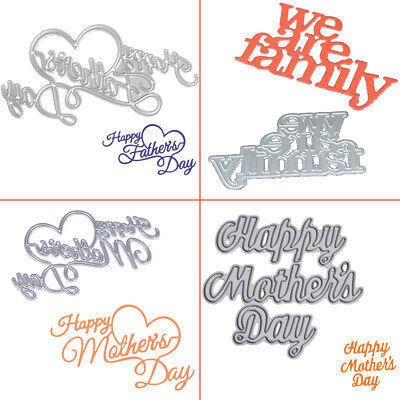 Happy Mother Press Cut Fathers day die /& embossing Stencil for cards//crafts8