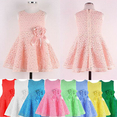 Fashion Baby Kid Girl Child Skirts Flower A-Line Party Princess Dress Skirt