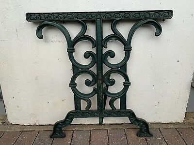 Vintage cast iron table legs green garden Upcycle project.