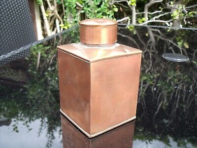 Arts & Crafts Copper Tea Caddy/Canister by Henry Loveridge & Co