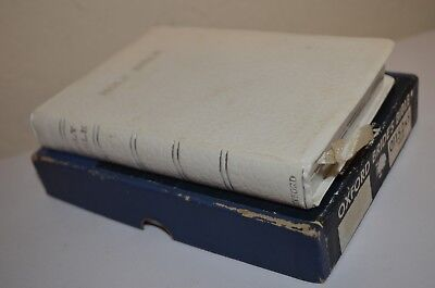 Oxford Brides Bible White French Morocco Genuine Leather w/ Box 01152xS VTG 50s