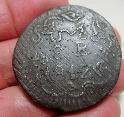 1814 (MEXICO) SUD-OAXACA (8 REALES) MORELOS  MONOGRAM---WAR of INDEPENDENCE-