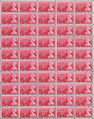 1948 - VFW - MOINA MICHAEL - #977 Full Mint -MNH- Sheet of 50 Postage Stamps