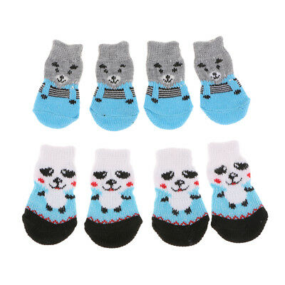 8x Small Dog Cat Socks Pet Clothes Anti Skid Winter Apparel Boots Shoes S