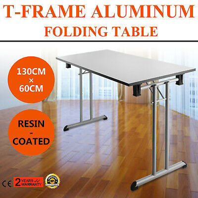 Portable Centerfold Folding Table Indoor Outdoor Camp Party Picnic Plastic