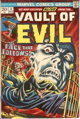 VAULT OF EVIL (1973) 4 VERY FINE Aug. 1973 COMICS BOOK