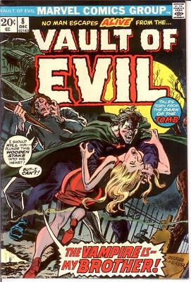 VAULT OF EVIL (1973) 8 FINE-VERY FINE Dec. 1973 COMICS BOOK