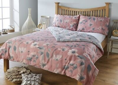Floral Rose Pink Duvet Cover and Pillow case Set Quilt Cover Single Double King